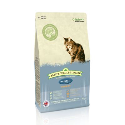 James Wellbeloved Adult Hairball Turkey - säästöpakkaus: 3 x 4 kg