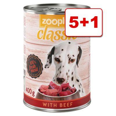 6 x 400 g zooplus Classic: 5 + 1 kaupan päälle! - peura & nauta