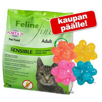10 kg Porta 21 + nystyräpallot kaupan päälle! – Feline Finest Sensible, viljaton
