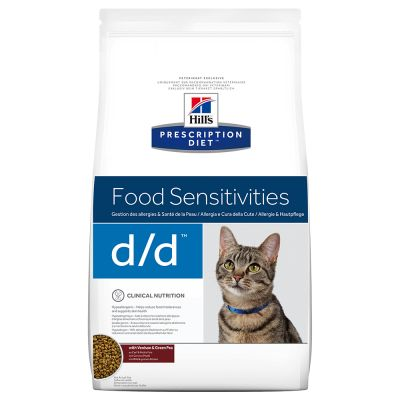 Hill's Prescription Diet d/d Food Sensitivities Katzenfutter mit Wild & grünen Erbsen