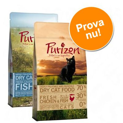 Blandat provpack Purizon Adult 2 x 400 g NYHET: Duck & Fish och Deer & Fish