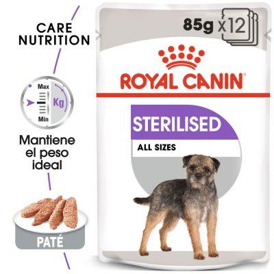 Royal Canin Sterilised comida húmeda para perros  - 48 x 85 g - Pack Ahorro
