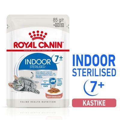Royal Canin Indoor Sterilised 7+ in Gravy - 12 x 85 g
