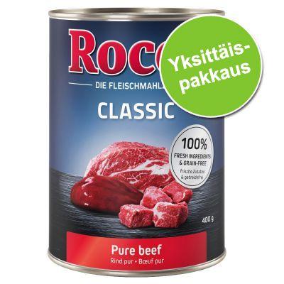 Rocco-purkkiruoka, 1 x 400 g - Real Hearts, nauta & kanansydämet