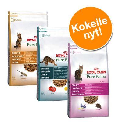Royal Canin Pure Feline -kokeilupakkaus 3 x 1,5 kg - Lively + Beauty + Slimness