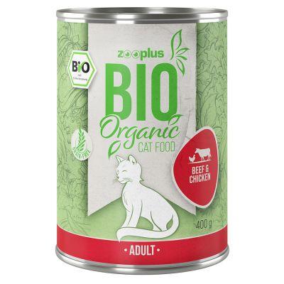 zooplus Bio 12 x 400 g bio kachna s cuketou