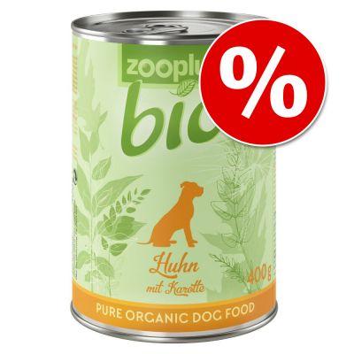 Zooplus Bio 6 x 400 g erikoishintaan! - kalkkuna & hirssi
