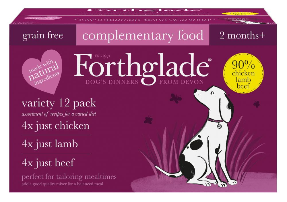 Forthglade Just 90% Grain-Free Dog - Mixed Pack - 12 x 395g