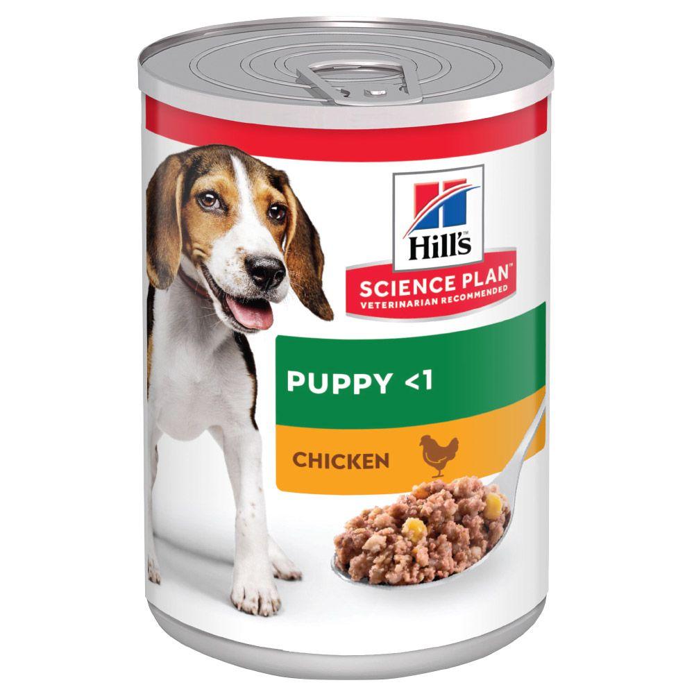 6x370g Chicken Puppy Hill's Science Plan Wet Dog Food