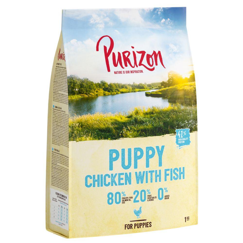 UUSI RESEPTI: Purizon Puppy Chicken with Fish - viljaton - säästöpakkaus: 2 x 12 kg