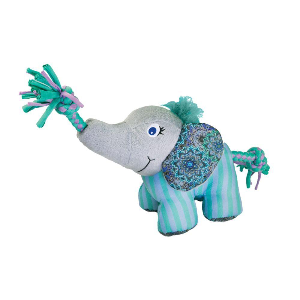 KONG Knots Carnival Elephant - Stl. S/M: L 9 x B 17 x H 13 cm