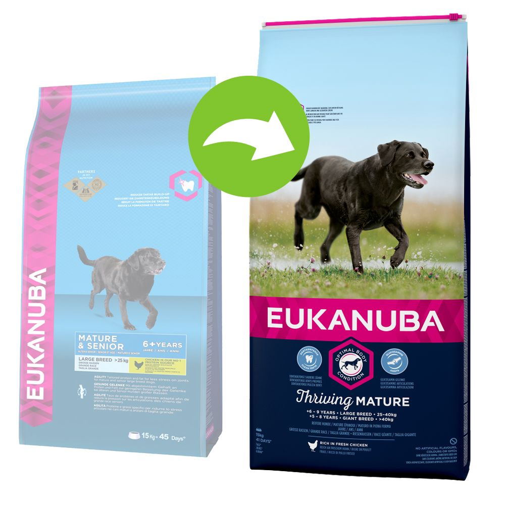 Image of Eukanuba Thriving Mature Large Breed Huhn - 15 kg