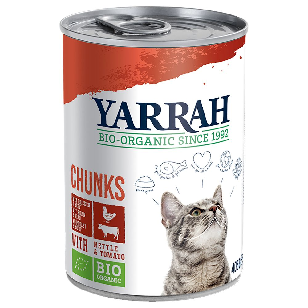 Chicken Beef & Tomato Yarrah Organic Chunks Wet Cat Food