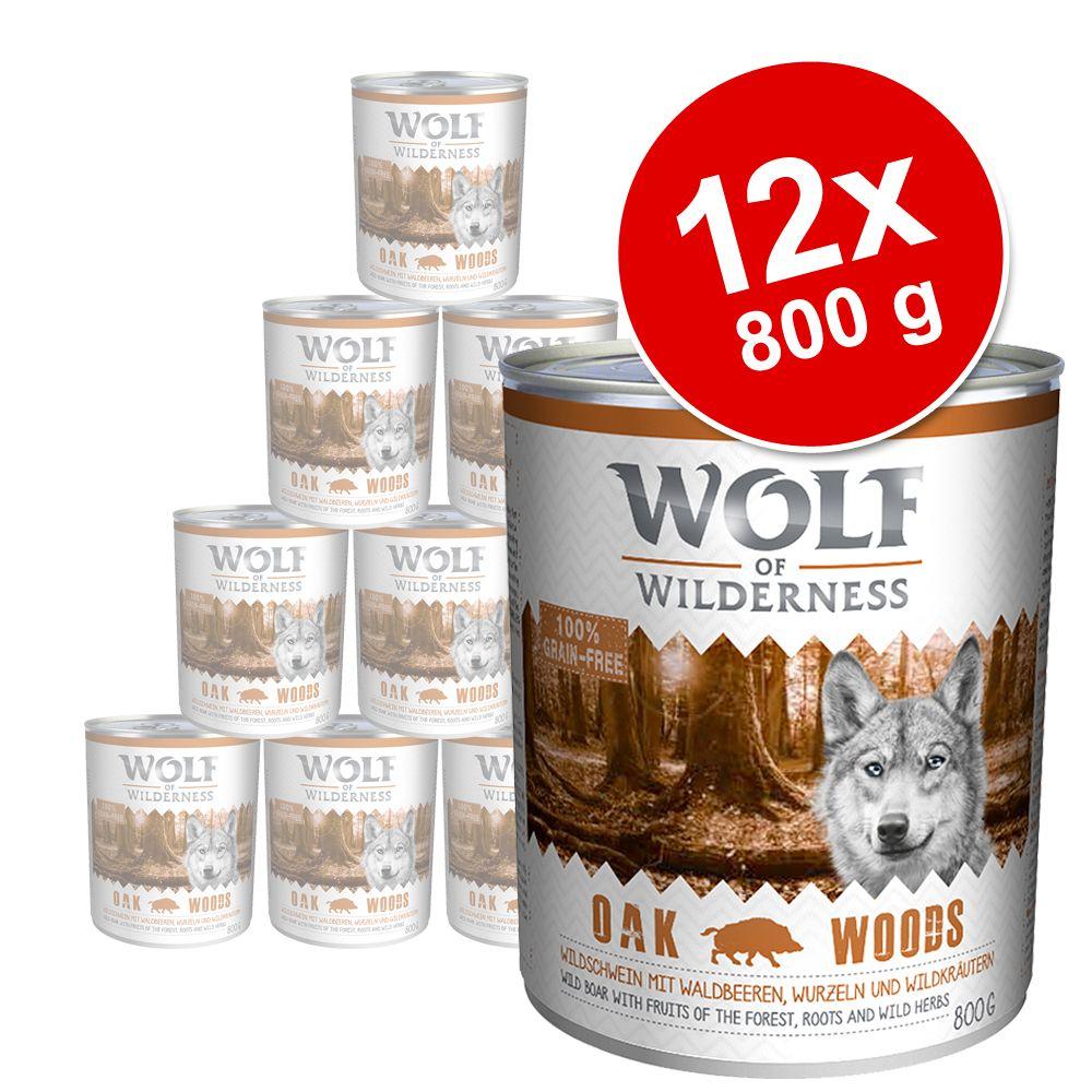 Korzystny pakiet Wolf of Wilderness Adult, 12 x 800 g - Arctic Spirit, renifer