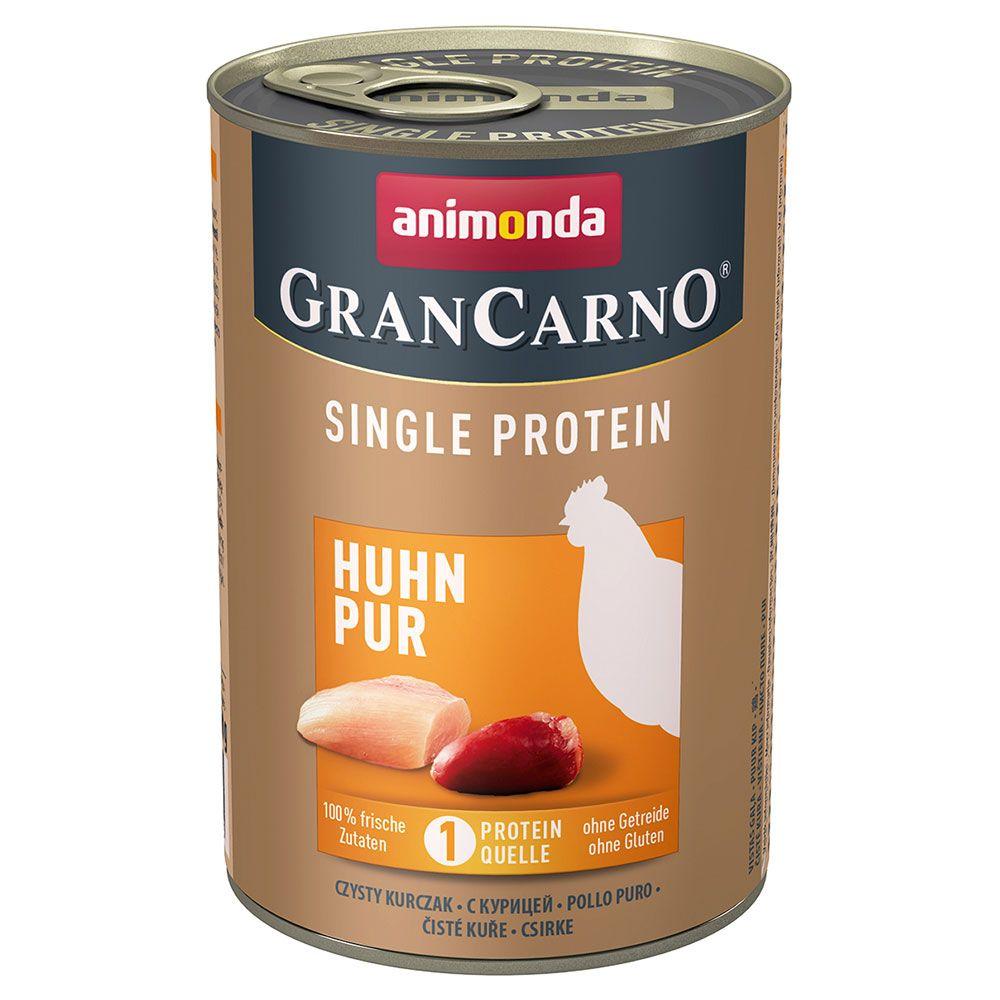 Animonda GranCarno Adult Single Protein 6 x 400 g - Kyckling Pur