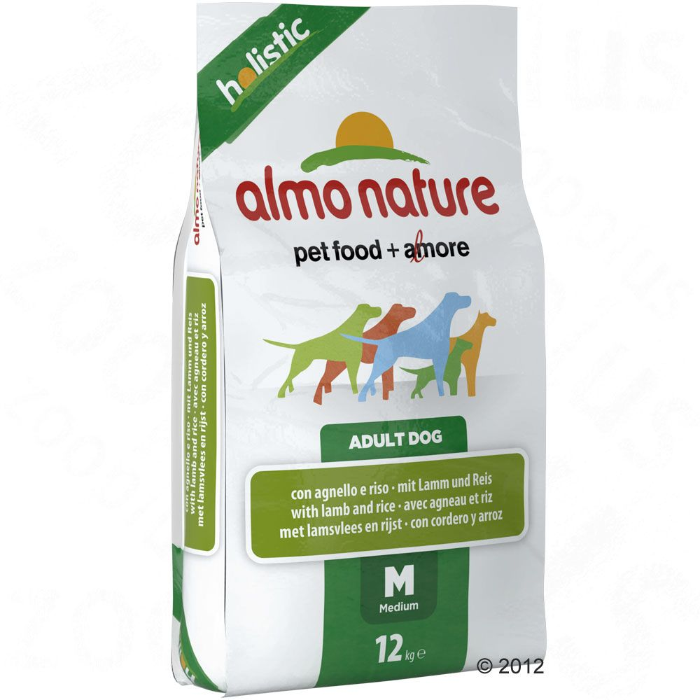 Almo Nature Adult Medium, jagnięcina z ryżem - 2 x 12 kg