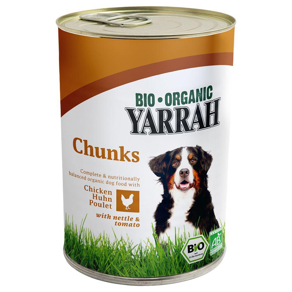 Yarrah Bio Huhn 6 x 400/405 g - Huhn & Rind mit...