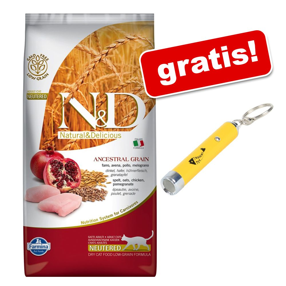 Foto 5 kg Farmina N&D Low Grain + Puntatore LED gratis! - Adult Merluzzo e Arancia