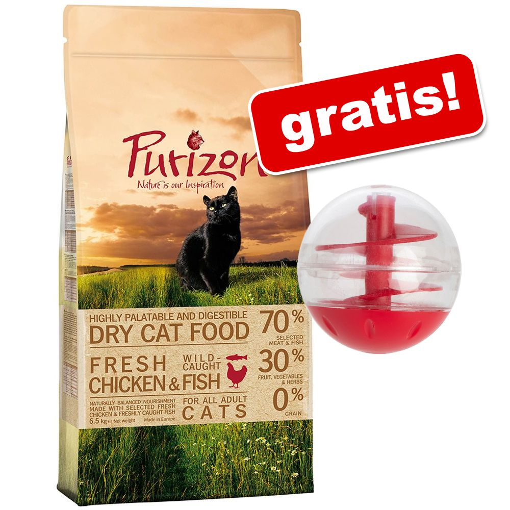 Foto 2,5 kg Purizon + Snackball gratis! - Adult Pollo & Pesce Purizon Cat