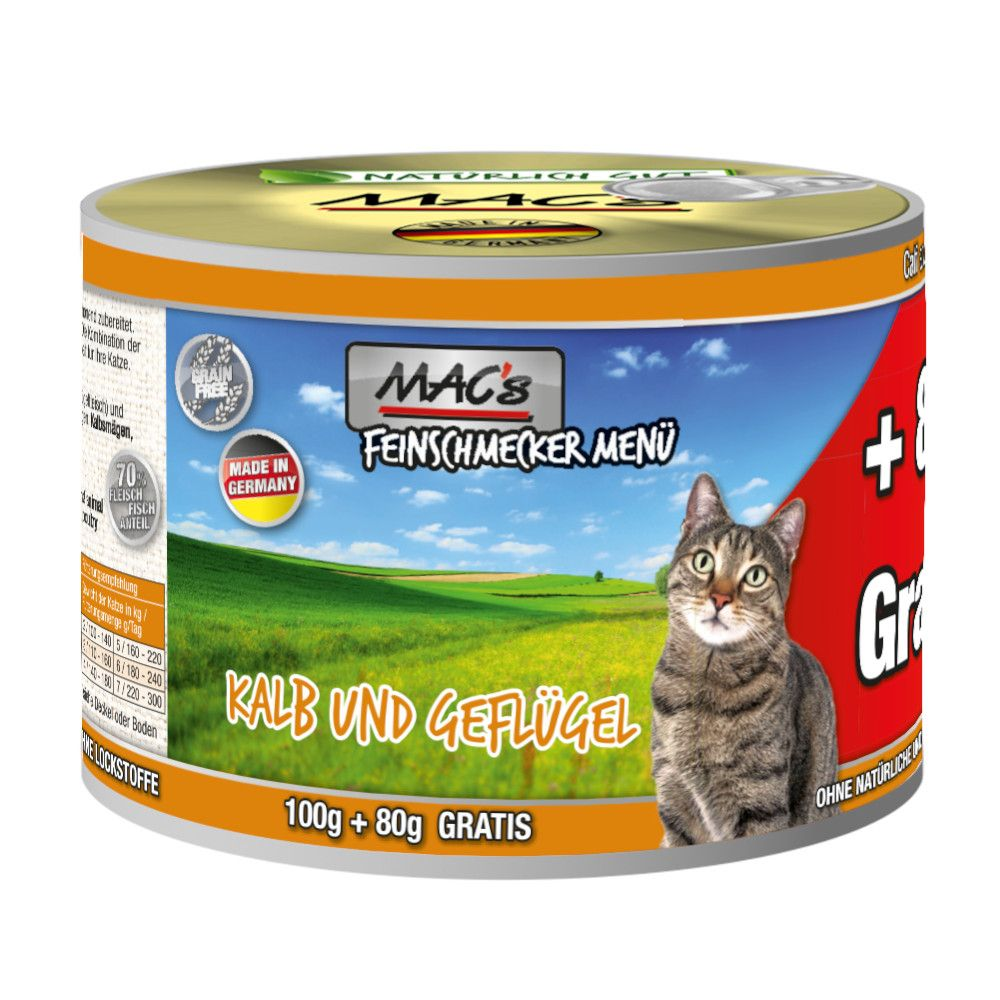 MAC's Cat Gourmet 6 x 180 g Anka & kanin