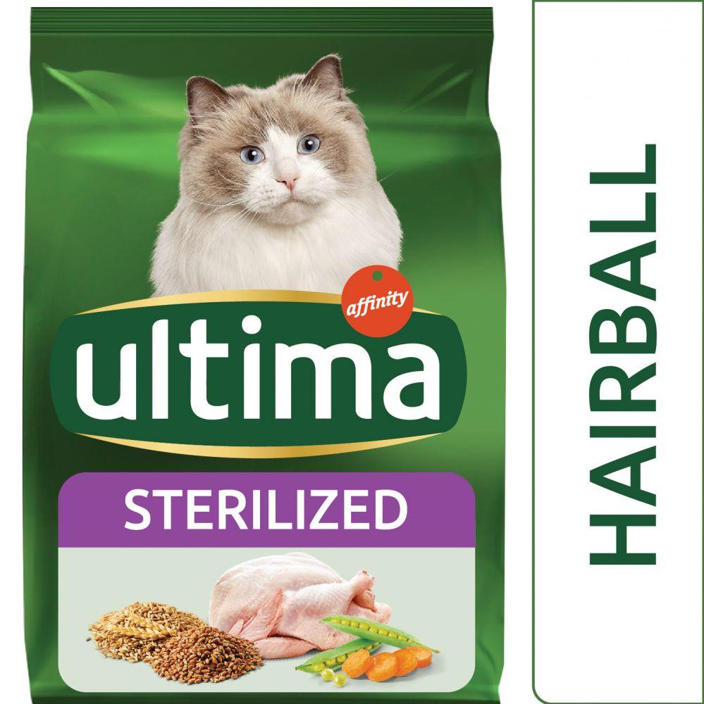 3kg Ultima Stérilisé, Boules de poils - Croquettes pour chat