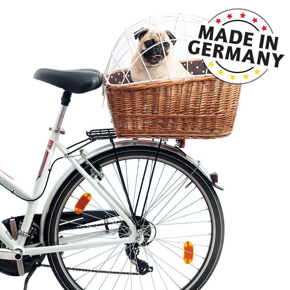 Ob in der Stadt oder bei Ausflügen durch die Natur: Wenn Sie gemeinsam mit Ihrem Hund mit dem Fahrrad unterwegs sind, steht Sicherheit an erster Stelle, gefolgt von Komfort und Praktikabilität. Der Aumüller Hunde-Fahrradkorb für den Gepäckträger mit Schutzgitter erfüllt all di...