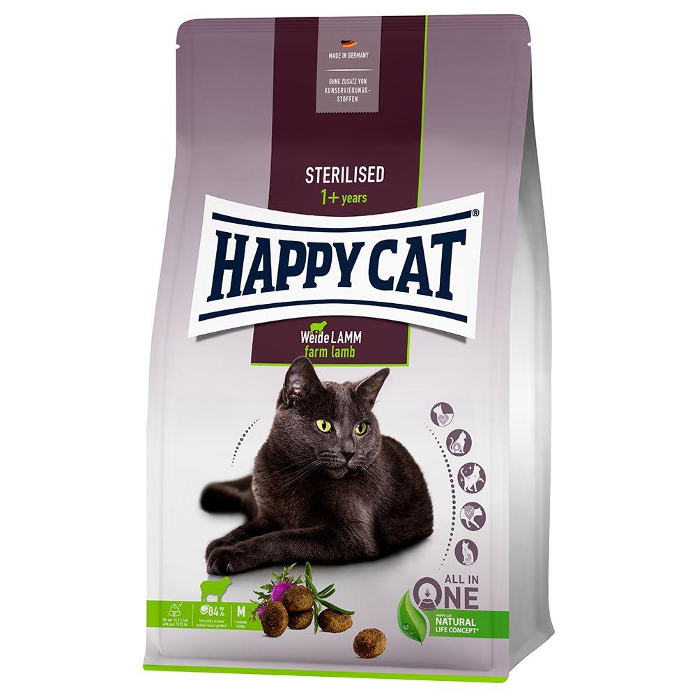Happy Cat Sterilised Adult Weide-Lamm - 10 kg