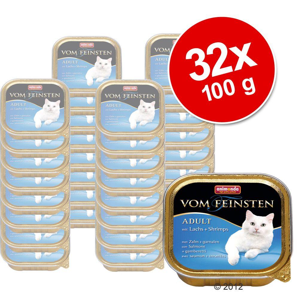 32x100g Mare saumon, crevettes Animonda Vom Feinsten - Pâtée pour chat