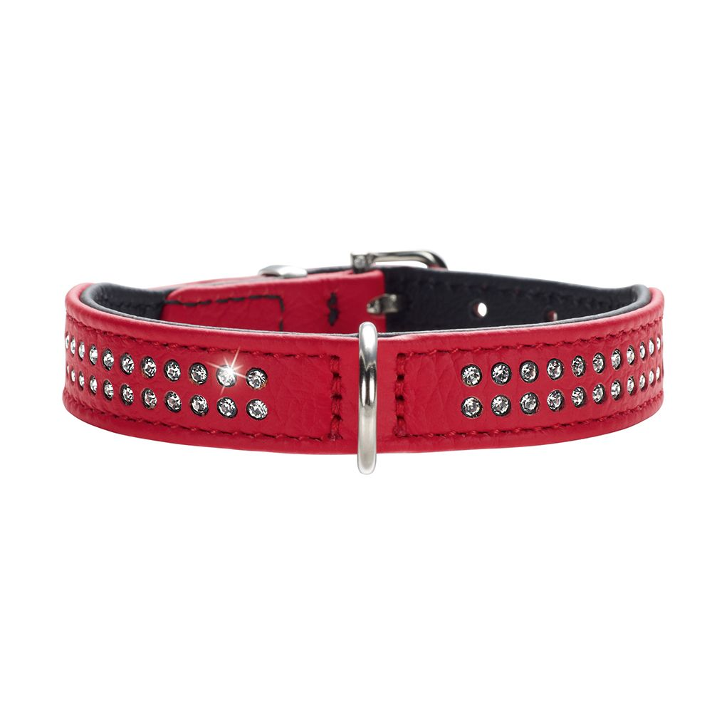Str30 Diamond Petit rød/sort HUNTER hundehalsbånd