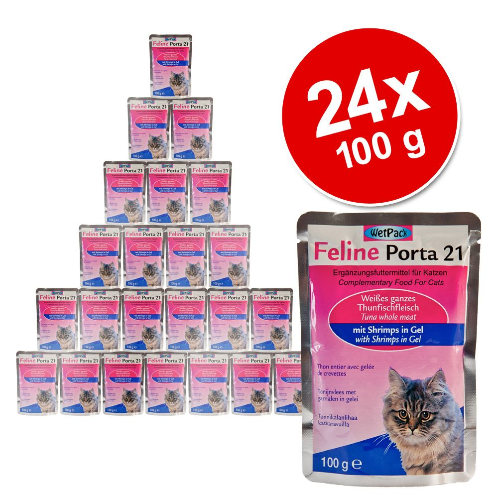 Megapakiet Feline Porta 21, 24 x 100 g - Tuńczyk z aloesem