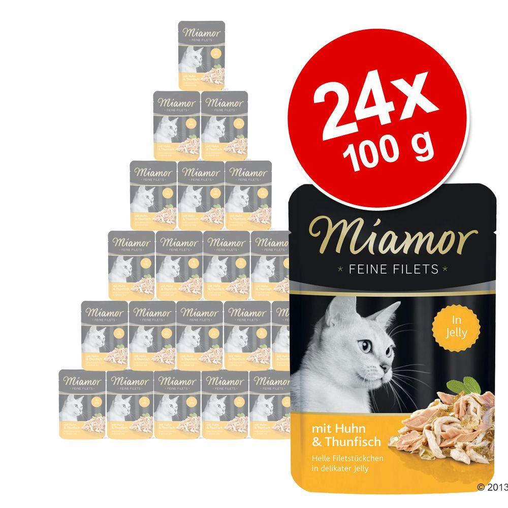Megapakiet Miamor Feine Filets w saszetkach, 24 x 100 g - Tuńczyk z warzywami