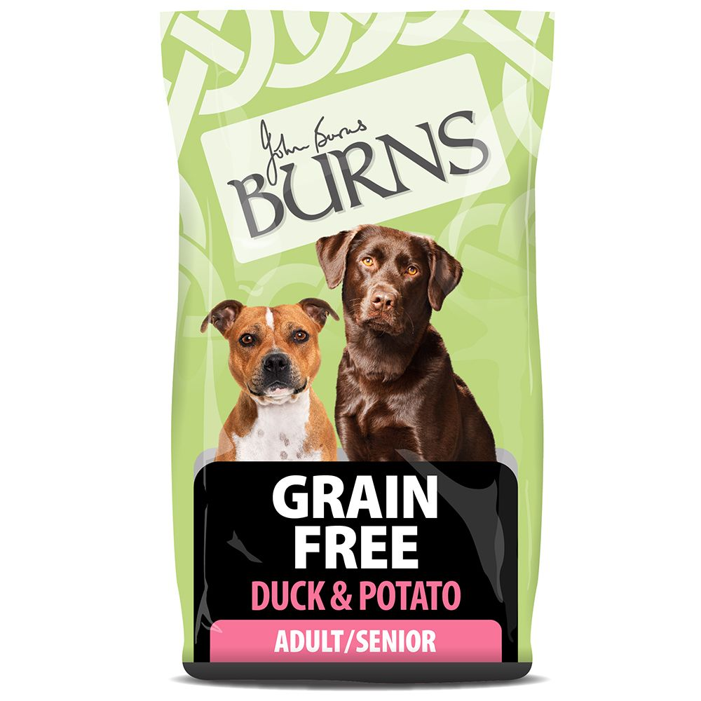 Burns Free From Adult Dry Dog Food – Duck & Potato - Economy Pack: 2 x 12kg