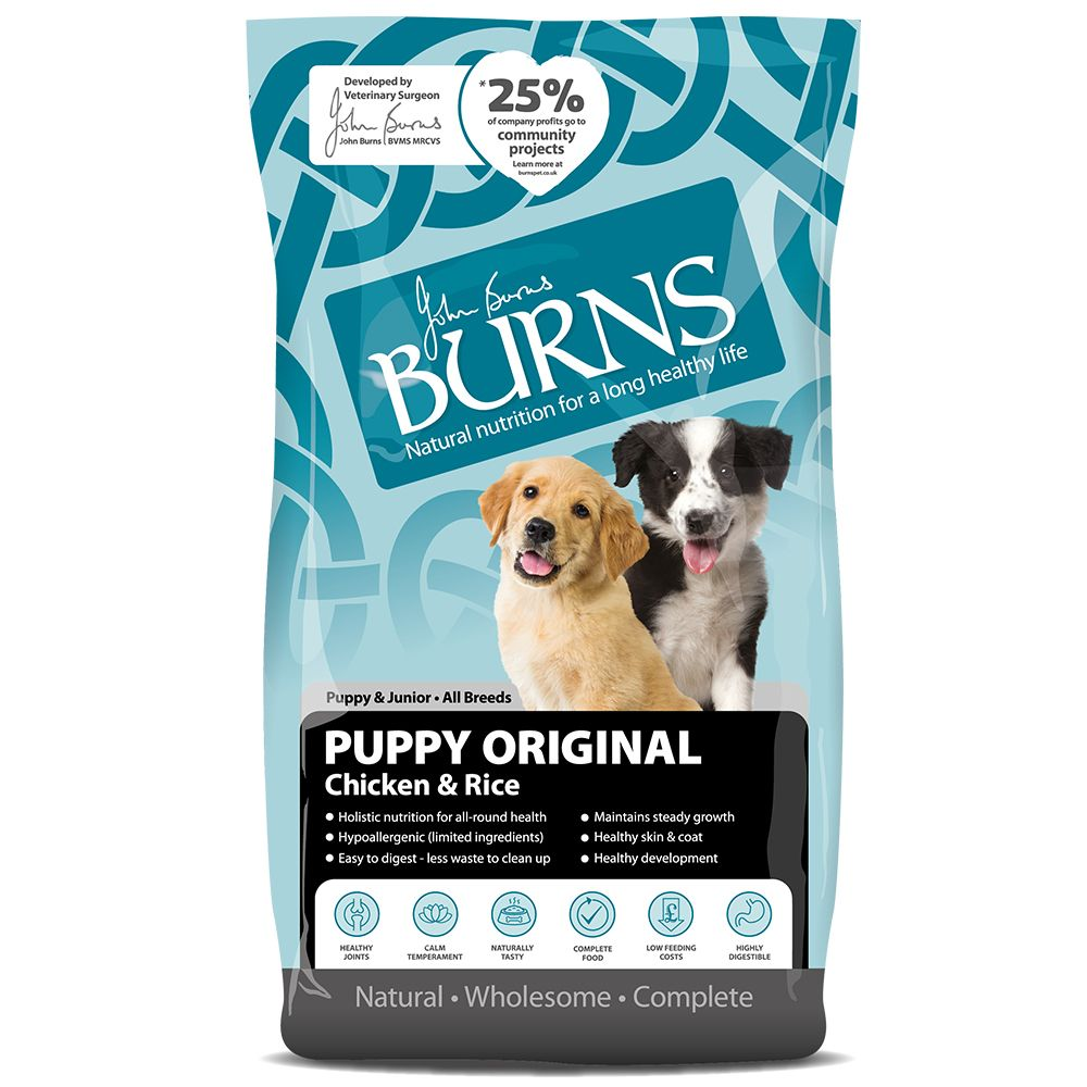 Burns Puppy Dry Dog Food - Special Price!* - Mini - Chicken & Rice (6kg)