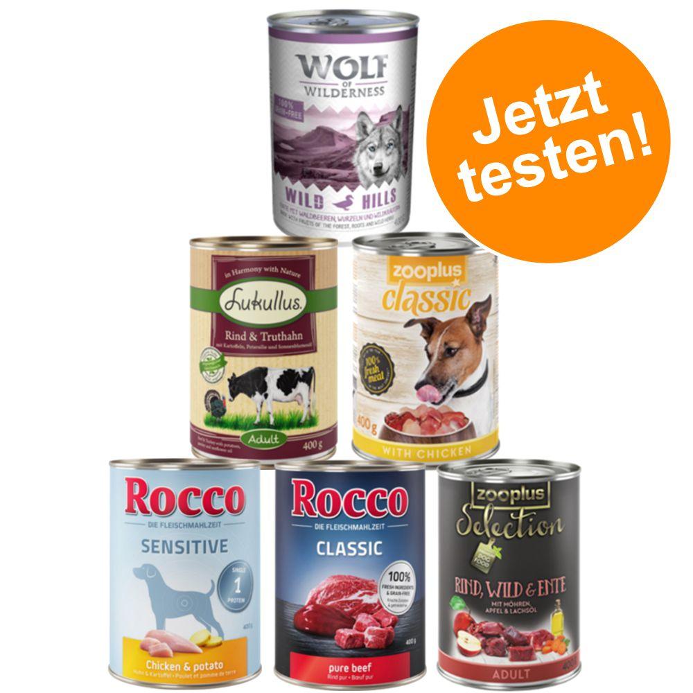 Exklusiver Premium Nassfutter-Mix für Hunde - 6...