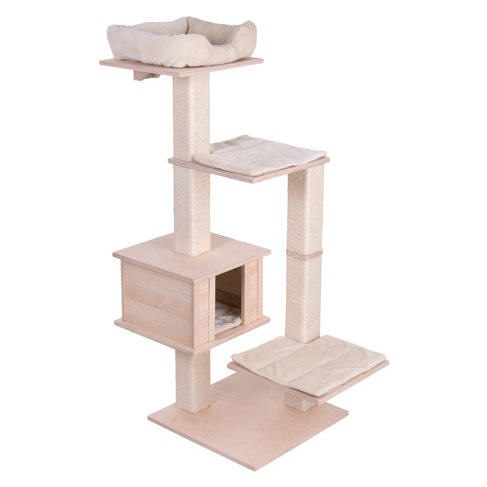 Natural Paradise Cream Quadra Cat Tree
