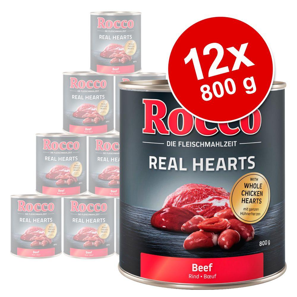12x800g Real Hearts poulet Rocco - Nourriture pour chien