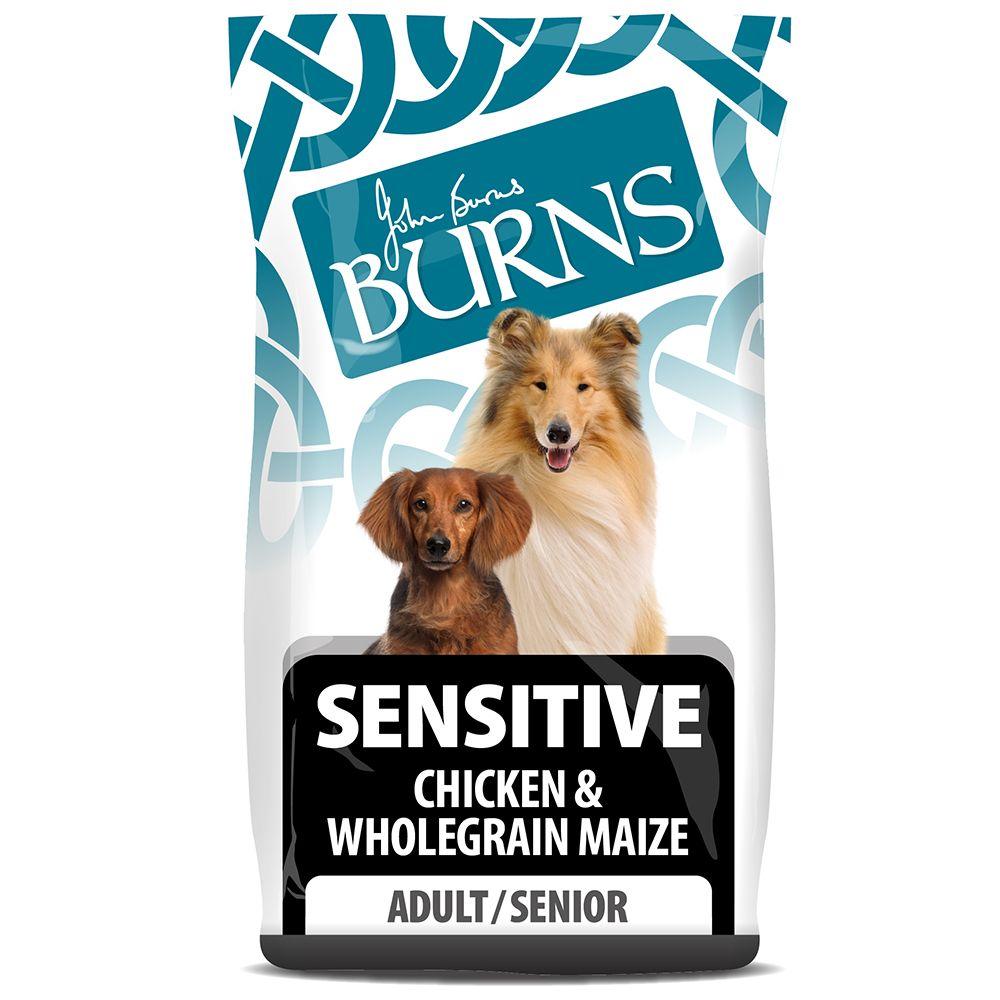 Burns Adult & Senior Sensitive - Chicken & Wholegrain Maize - Economy Pack: 2 x 6kg