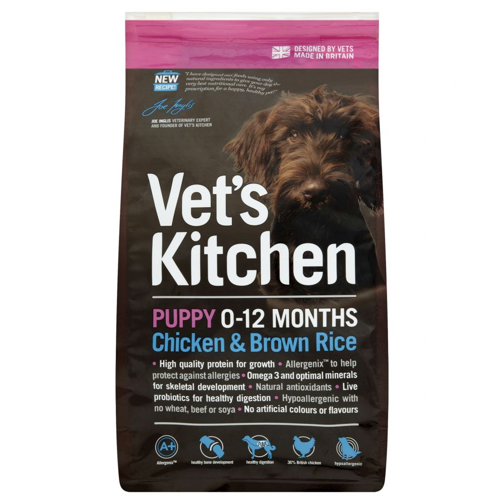 Vet's Kitchen Puppy Chicken & Brown Rice Dry Dog Food