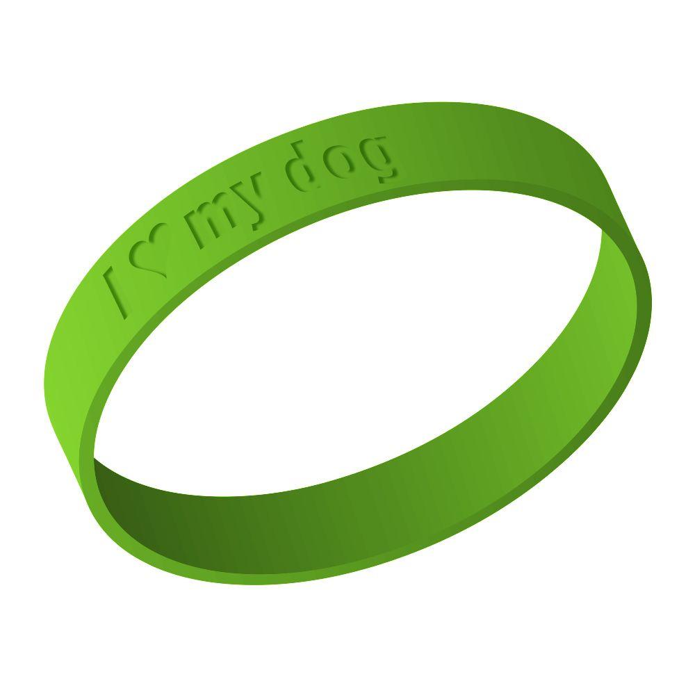 Image of I love my dog - braccialetto in silicone - 1 pz