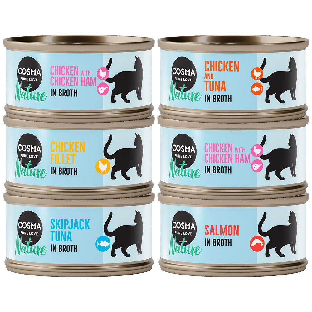 Mixed Trial Pack Cosma Nature Wet Cat Food
