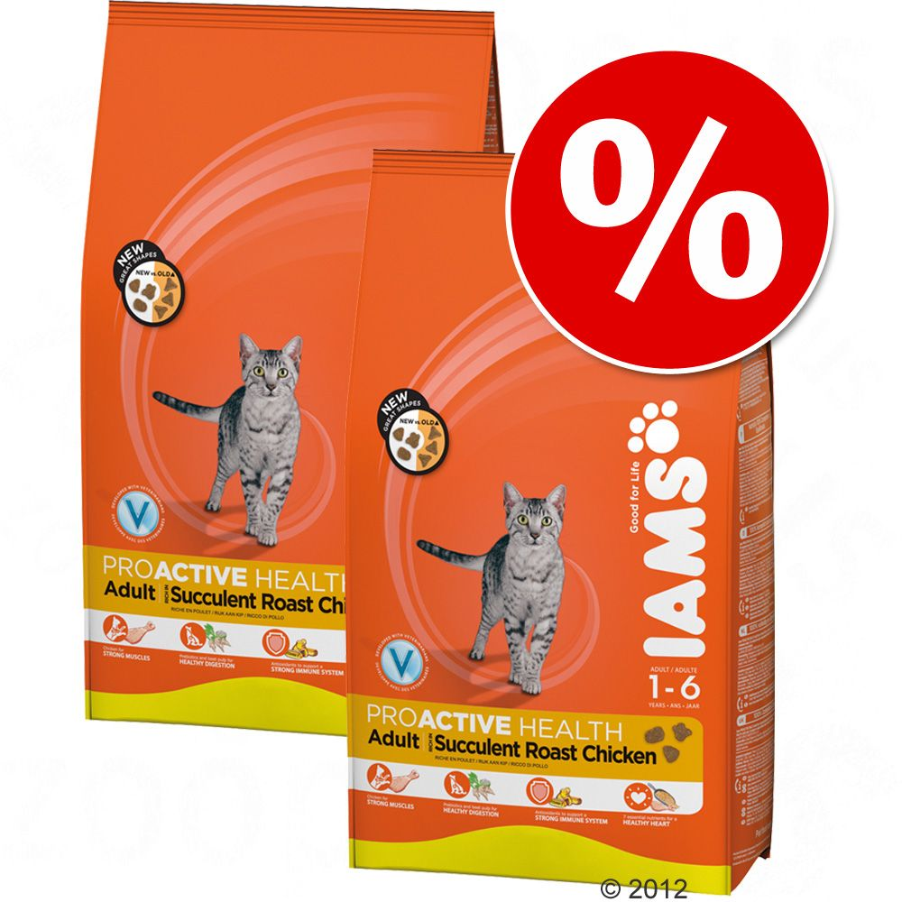 Foto Set risparmio! 2 x Iams - Kitten & Junior Pollo (2 x 10 kg) Set misti e double-pack