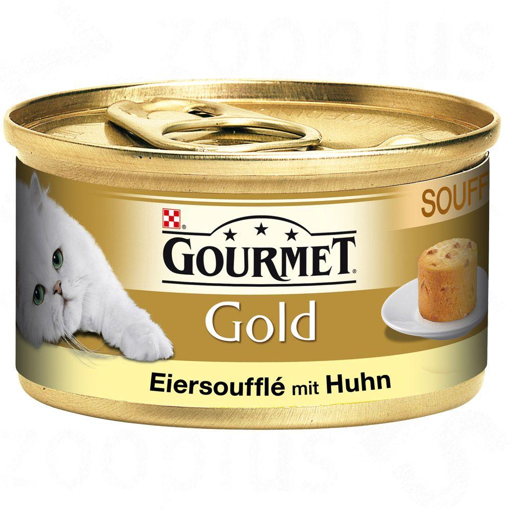 Gourmet Gold Suflet Jajeczny, 12 x 85 g - Łosoś