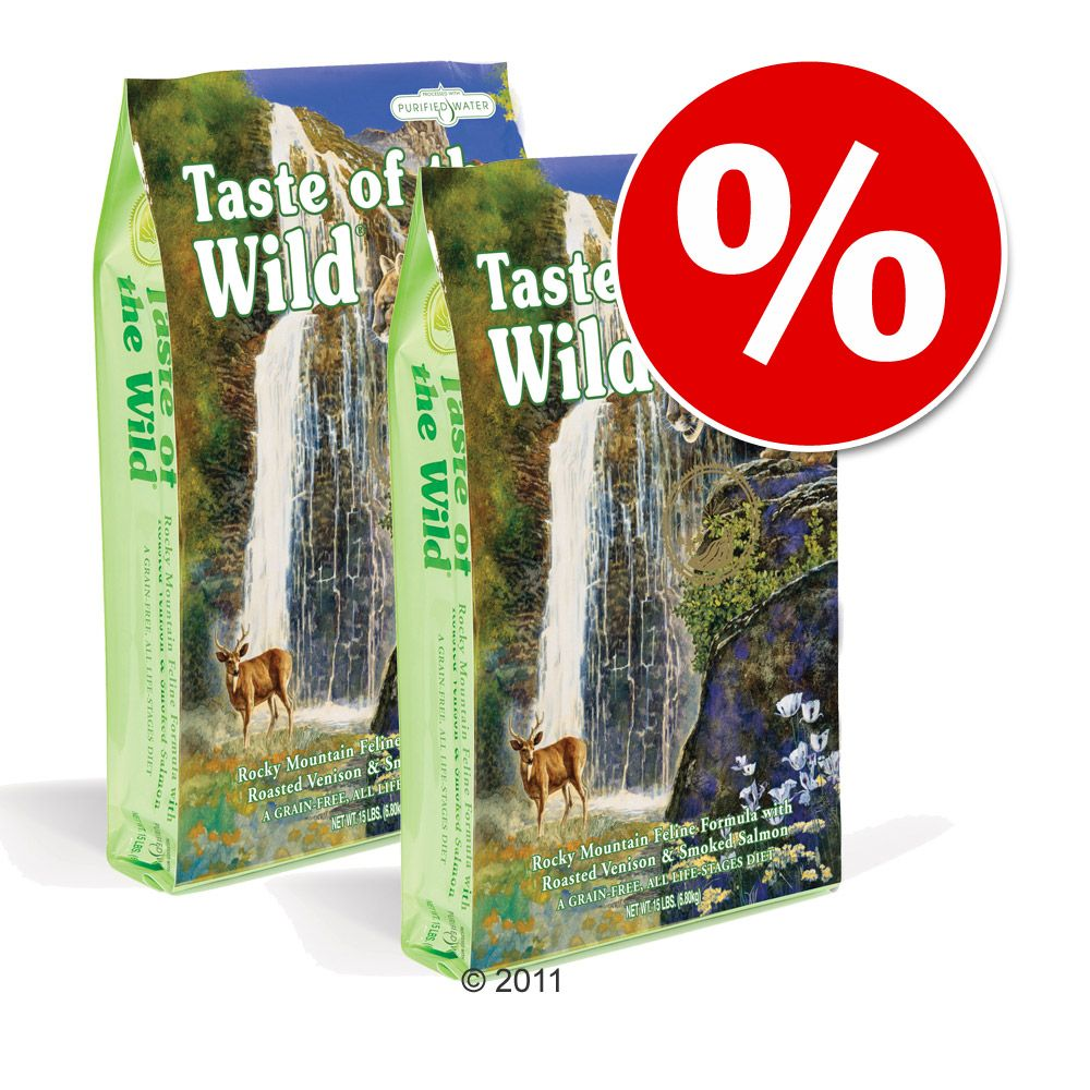 Ekonomipack: 2 x 7 kg Taste of the Wild - Canyon River Feline