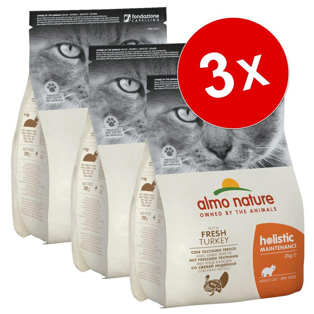 Lot Almo Nature Holistic 3 x 2 kg pour chat - Kitten poulet, riz