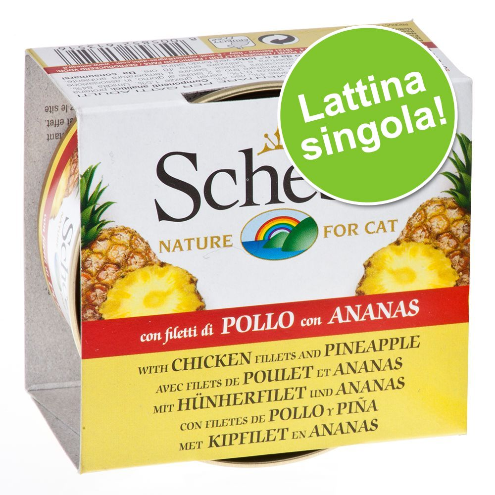 Image of Schesir con Veri Pezzi di Frutta 1 x 75 g - Tonnetto con Ananas