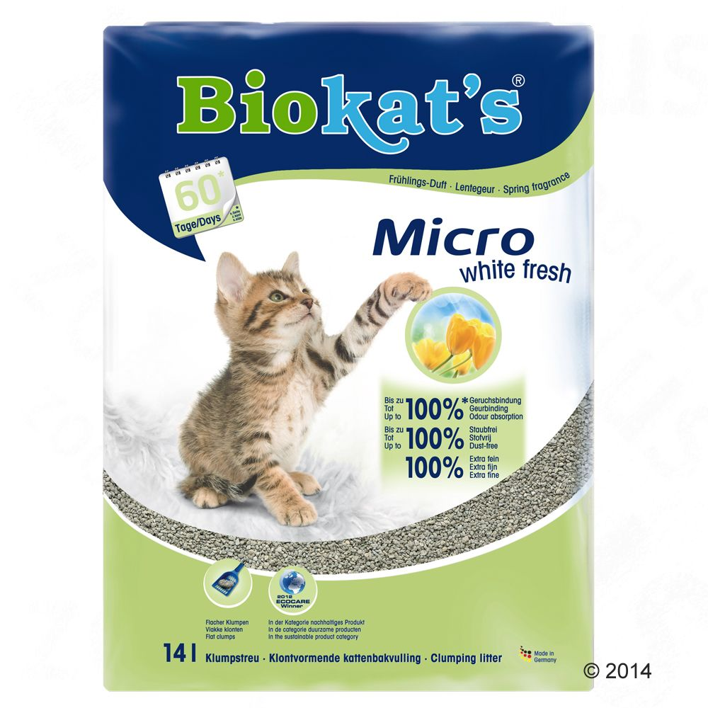 Biokat's Micro White Fresh żwirek dla kota - 14 l
