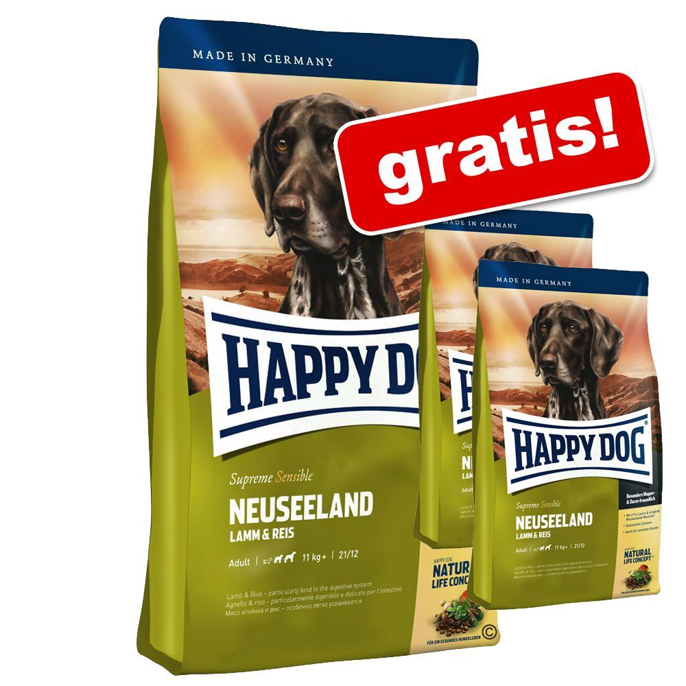 Foto 12,5 + 2 kg gratis! 14,5 kg Happy Dog Supreme Sensible - Caraibi