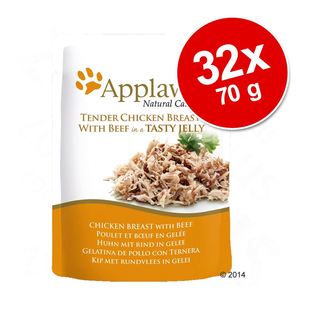 Foto Set Risparmio! Applaws Buste in Jelly 32 x 70 g - Pollo con manzo