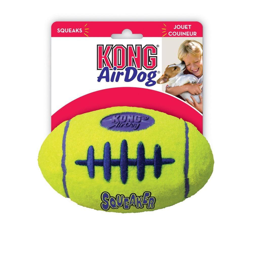 Large KONG AirDog American Football with Squeaker