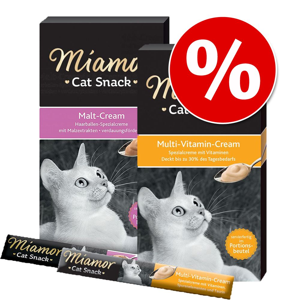 Miamor Cat Snack Malt Cream + Multivitamin Cream - 12 x 15 g